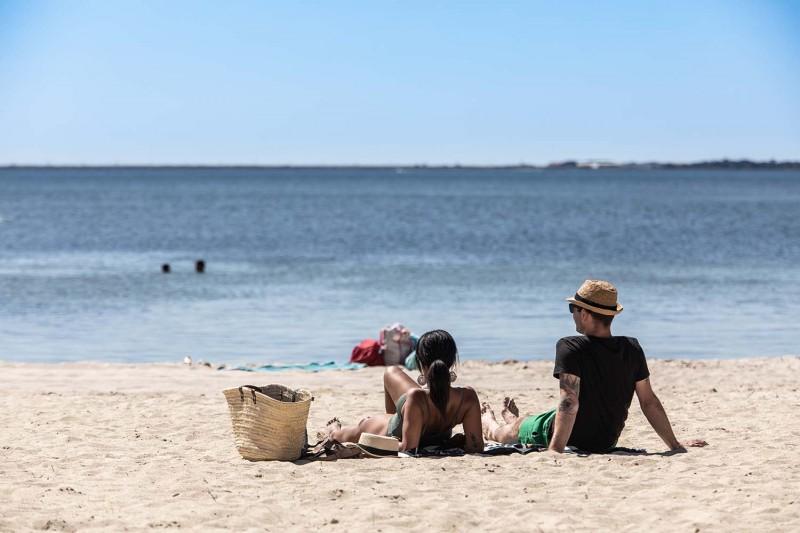 Les plages de la lagune de Thau